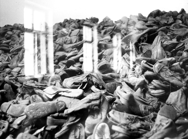 Shoes of Holocaust victims from Auschwitz-Birkenau concentration camp