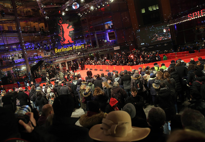 Berlinale Palace, in which the opening gala of the 65th Berlin Film Festival takes place