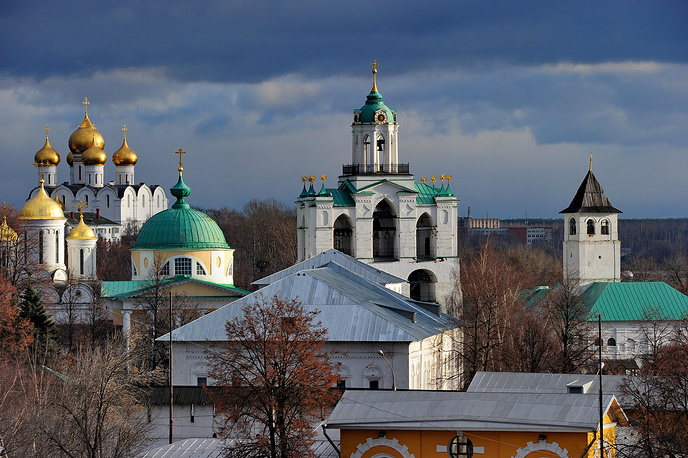 Yaroslavl, view of Kremlin and Dormition Cathedral