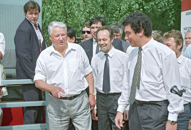 Photo: Russia's president Boris Yeltsin and head of Nizhny Novgorod administration Boris Nemtsov, 1994