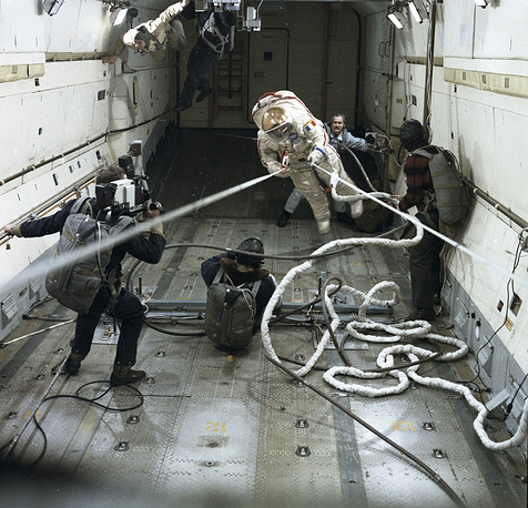 French Jean-Loup Chretien became the first western European in space. In 1988 he performed 5 hour and 57 minute EVA together with Soviet cosmonaut Aleksandr Volkov