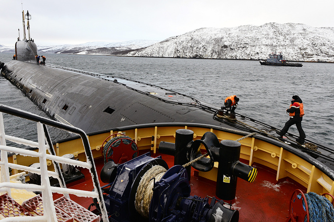 Russian Northern Fleet's Yasen-class Severodvinsk nuclear submarine