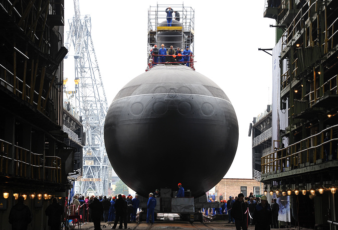 Project 636.3 Varshavyanka diesel-electric submarine Stary Oskol at the Admiralteyskie Verfi shipyard in St. Petersburg