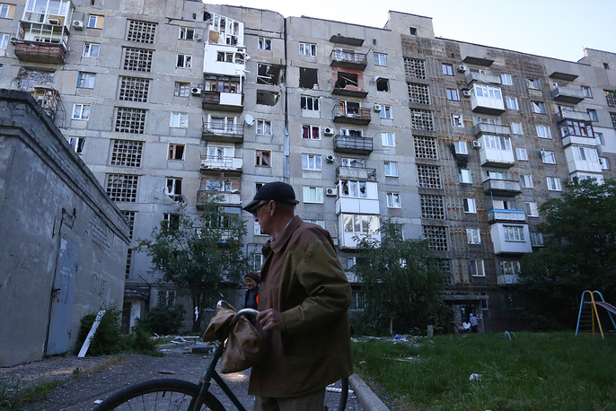 Ten houses have been affected by the shellings in the Kuibyshev district in Donetsk, according to the local administration