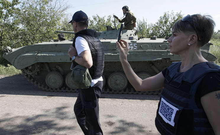 A spokesman for the self-proclaimed Donetsk People's Republic's (DPR) defense ministry said DPR planned to fully complete the withdrawal of lighter weapons from the contact line on July 21