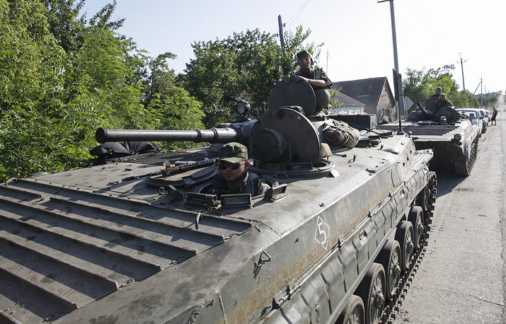 The self-proclaimed republics of east Ukraine announced withdrawal of tanks and armoured vehicles equipped with weapons under 100mm calibre to a distance of at least three kilometres from the line of engagement on July 19