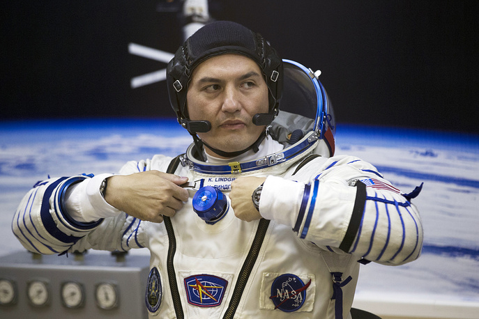 Yui, 45, and Lindgren, 42, have begun their first space mission. Photo: US astronaut Kjell Lindgen, a crew member of the ISS Expedition 44/45