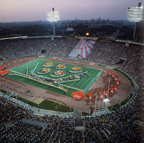 Closing ceremony of the 1980 Summer Olympic Games