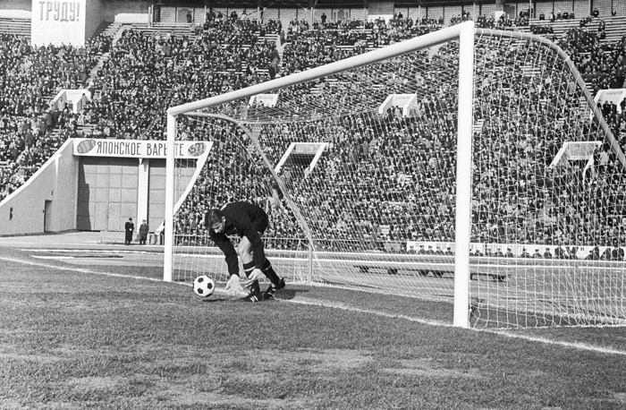 In the past its field was mainly used for football games. Photo: Soviet goalkeeper Lev Yashin during a match in Luzhniki Stadium, 1970