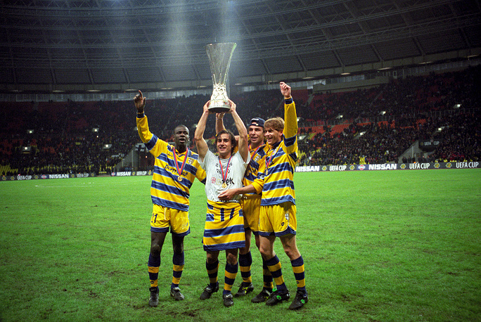 1999 UEFA Cup Final was a football match between Parma of Italy and Marseille of France at the Luzhniki Stadium