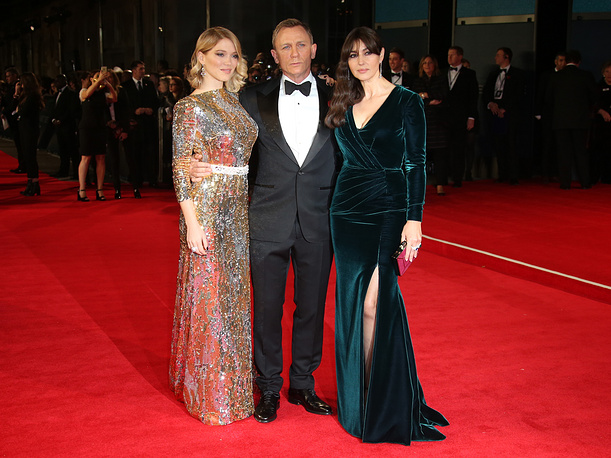 Lea Seydoux, Daniel Craig and Monica Bellucci