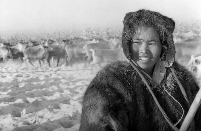 A girl, reindeer-breeder, 1965
