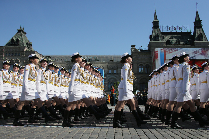 Female servicemen of the Military University of the Russian Ministry of Defense