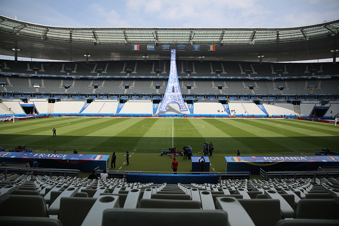 View of the Stade de France stadium, in Saint-Denis, north of Paris. The Euro 2016 soccer championships kicks off with an opening ceremony and soccer match at Stade de France on June 10