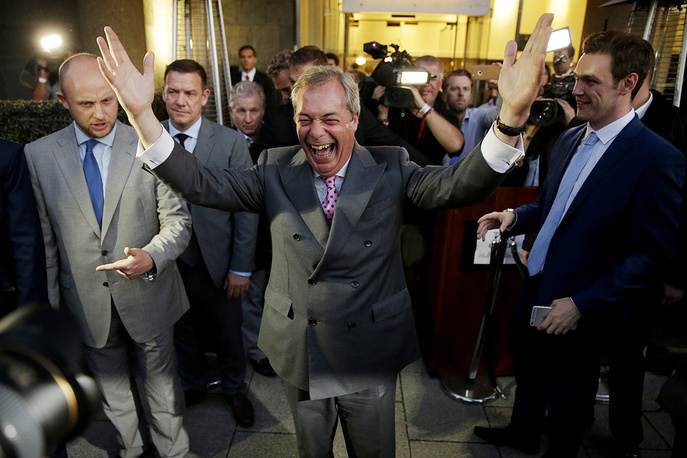 Nigel Farage, the leader of the UK Independence Party