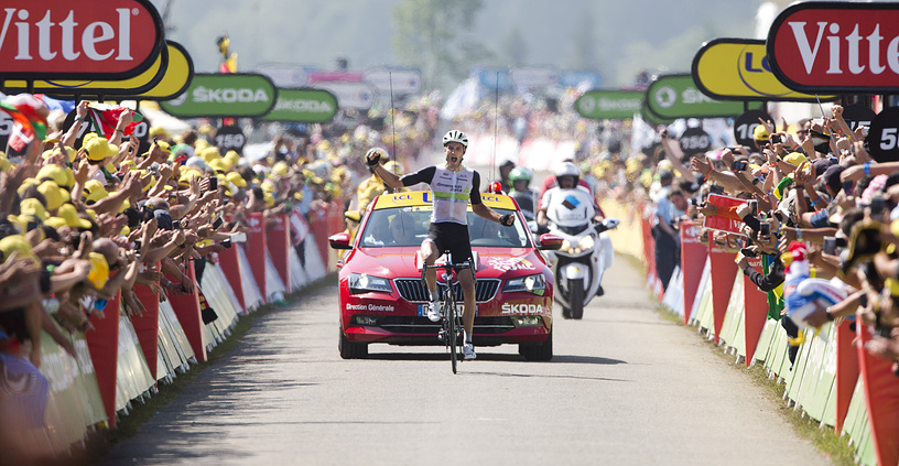 Britain's Stephen Cummings winning the seventh stage of the Tour de France 2016