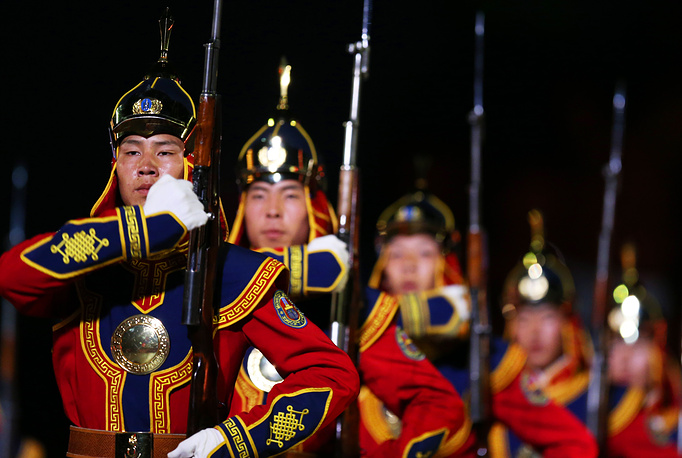 Honor Guard and the Central Military Band of Mongolian Armed Forces