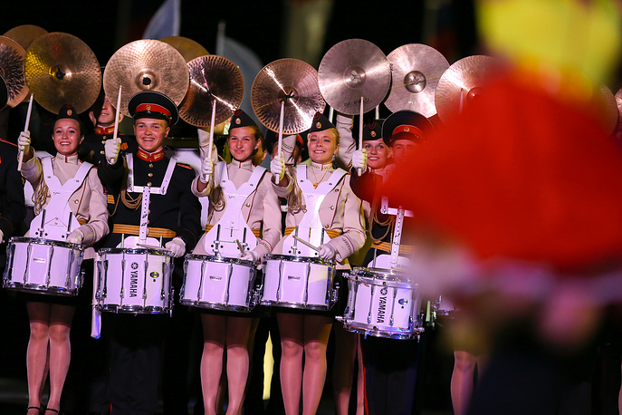 Members of the Band of the Moscow Military Music College