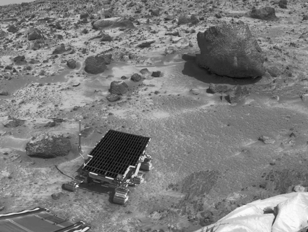Sojourner, the Mars Pathfinder robotic Mars rover landed on July 4, 1997 and explored Mars for around three months