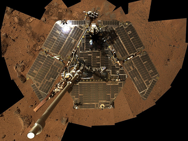 Robotic rover Spirit was active on Mars from 2004 to 2010. It was one of two rovers of NASA's ongoing Mars Exploration Rover Mission