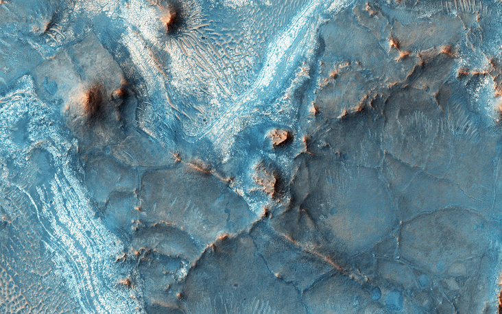 Image of Mars's surface made by the High Resolution Imaging Science Experiment camera on NASA's Mars Reconnaissance Orbiter