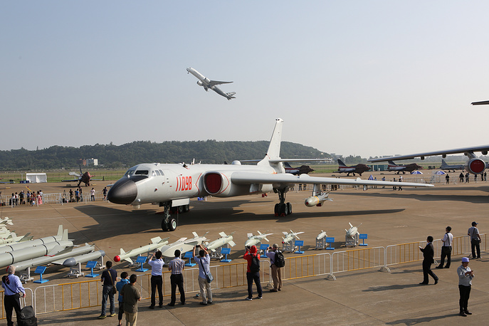 Xian H-6K, a Chinese license-built version of the Soviet Tupolev Tu-16 bomber