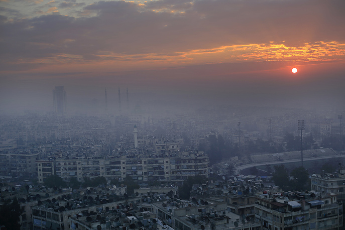 View of the city of Aleppo