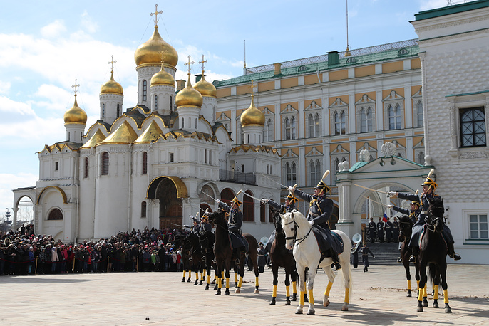 The Cavalry Escort of Honour of the Russian Presidential Regiment