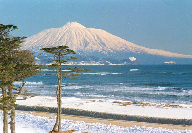 Tyatya volcano in the northeastern part of Kunashir Island, one of Kuril Islands