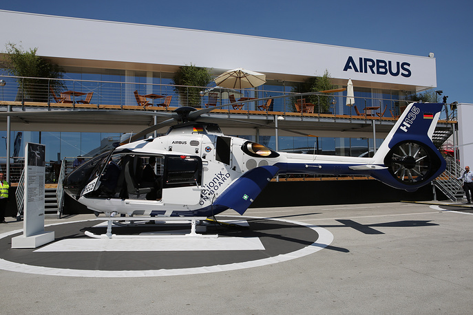 An H135 i civil helicopter produced by Airbus Helicopters