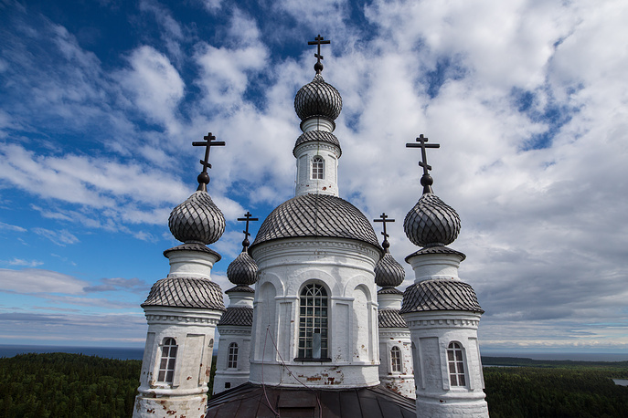 The Golgotha-Crucifixion Skete on the top of Mount Golgotha on Anzersky Island of the Solovetsky Archipelago