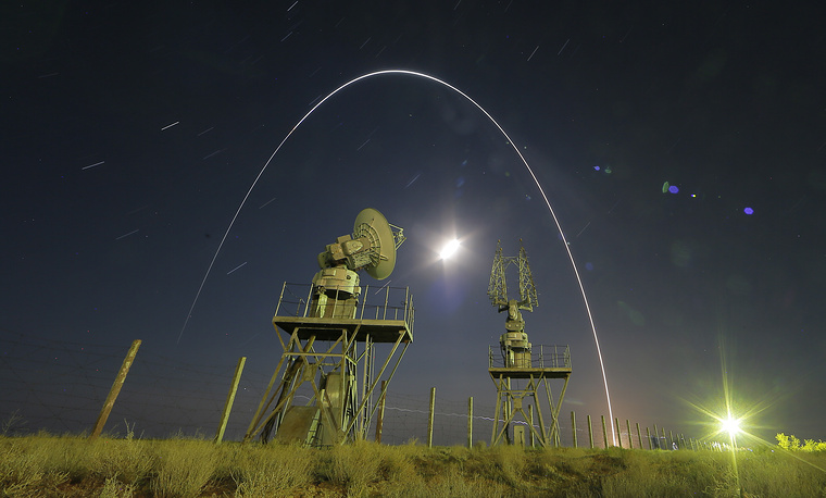The Proton-M/Briz-M carrier rocket lifts off from the launch pad at the Baikonur Cosmodrome, Kazakhstan, September 12