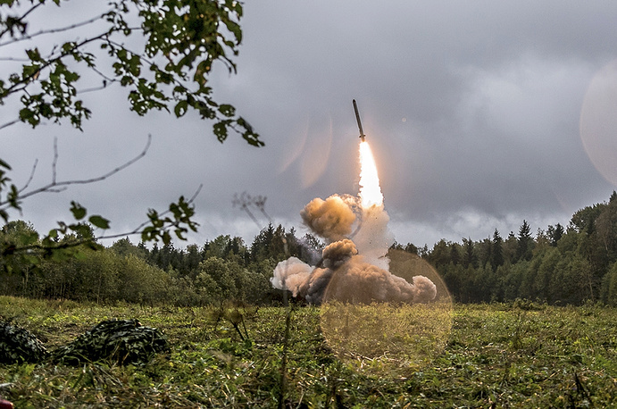 Iskander-K missile launched during a military exercise