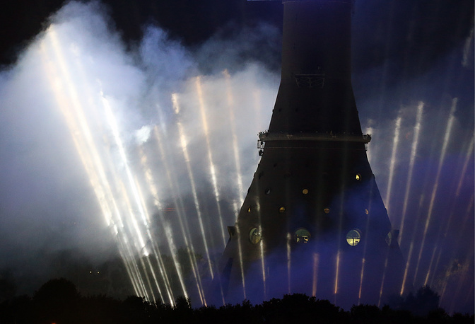 The festival opened with musical and multimedia show performed on Ostankino Pond and Tower