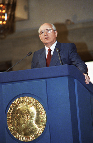 """The first and the last Soviet Union president, Mikhail Gorbachev was awarded the Nobel Peace Prize in 1990 """"for his leading role in the peace process which today characterizes important parts of the international community"""""""