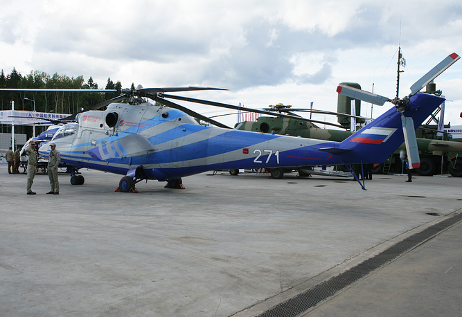 Mi-PSV (prospective high speed helicopter) is experimental helicopter based on the Mi-24. A Mi-24LL PSV demonstrator flew at speed of 405 km/h during recent tests