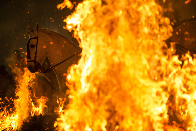 The festival is meant to purify the animals with the smoke of the bonfires and protect them for the year to come