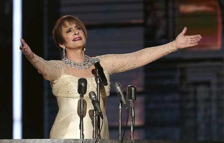 """Patti LuPone performs """"Don't Cry For Me Argentina"""" during a tribute to Leonard Bernstein and Andrew Lloyd Webber"""