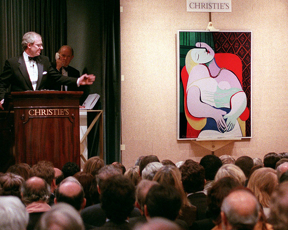 """In 2006, """"The Dream"""", one of Picasso's most famous works, was the centerpiece of collection by casino magnate Steve Wynn. Just before he intended to sell it, he punctured the picture with his right elbow, creating a large tear in figure's left forearm"""