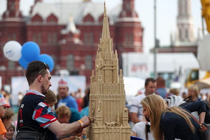 Celebrations marking Moscow's 871st birthday on Tverskaya street