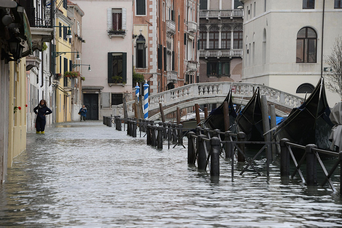 The tide reached 149 centimeters above sea level