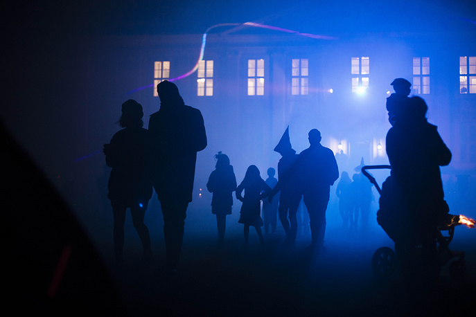 Costumed people attend Halloween celebrations at the Tierpark in Berlin, Germany