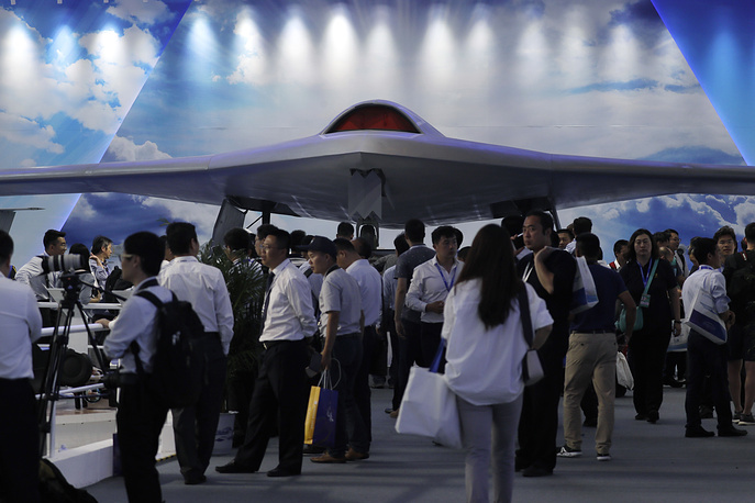 China's new-generation stealth unmanned combat aircraft prototype The CH-7