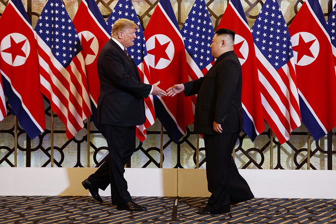 US President Donald Trump meets North Korean leader Kim Jong Un in Hanoi