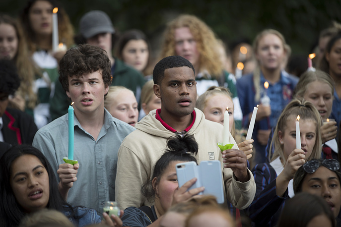 A vigil to commemorate victims of the shooting outside the Al Noor mosque in Christchurch