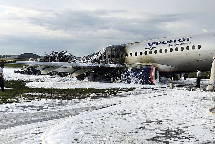 Aeroflot's Sukhoi Superjet 100 passenger plane with 73 passengers and five crewmembers onboard that was bound for Murmansk caught fire after emergency landing at Sheremetyevo shortly after the takeoff on May 5