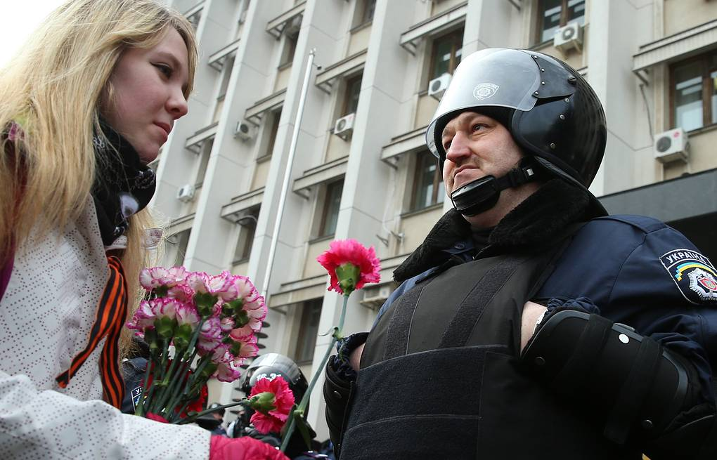 During a pro-Russian demonstration in Odessa (archive) ITAR-TASS/Stanislav Krasilnikov