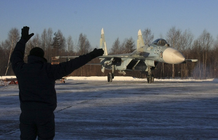 Russia's Su-27 fighter jet (archive)  AP