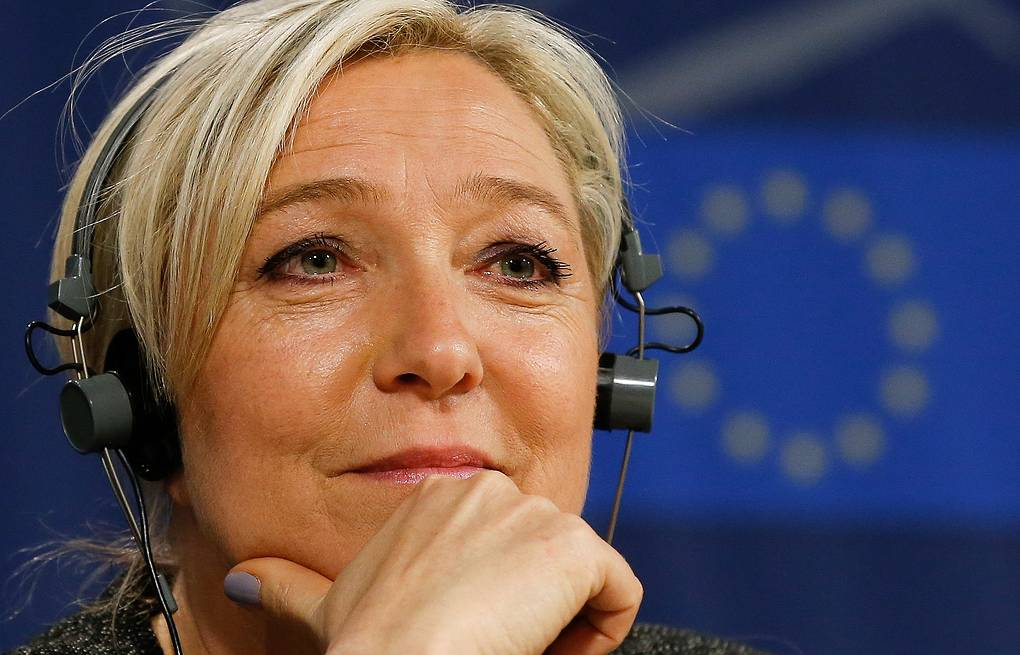 French far-right National Front party leader Marine Le Pen EPA/JULIEN WARNAND