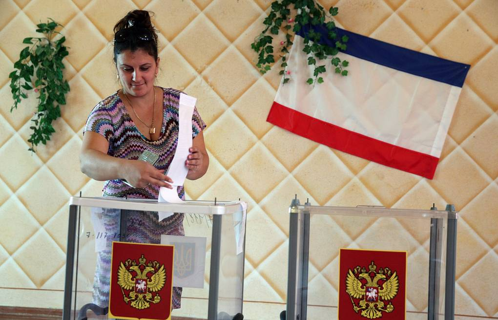 Voting in Crimea ITAR-TASS/Mikhail Pochuyev